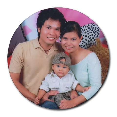 Mousepad By Genefaith   Collage Round Mousepad   Jlzxeh4usv54   Www Artscow Com 8 x8 Round Mousepad - 1