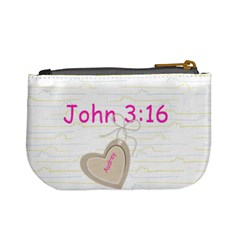 John 3:16 By Lora Violet   Mini Coin Purse   Rjfooep0htaj   Www Artscow Com Back