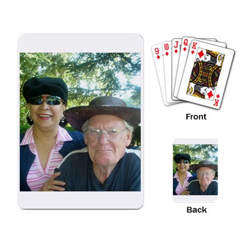 Playing Cards By Evelyn Snedden   Playing Cards Single Design   Kvk8fnukhgym   Www Artscow Com Back
