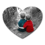 Brotherly Love - Heart Mousepad