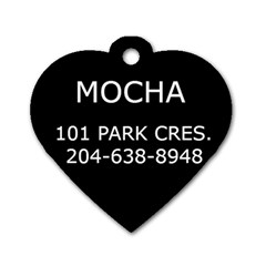 Mocha By Rachelle   Dog Tag Heart (two Sides)   Uylb440k21xx   Www Artscow Com Back