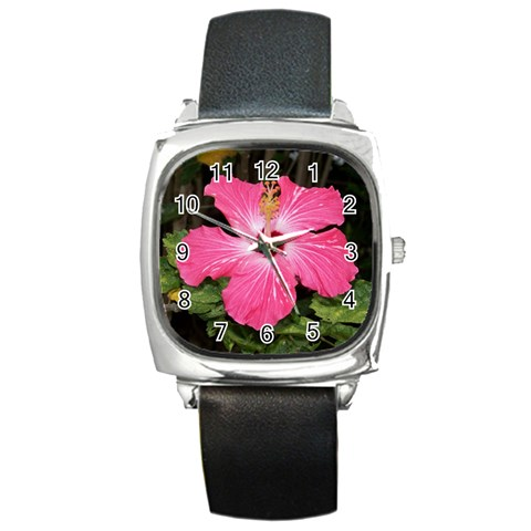 Hawaii Watch By Terri   Square Metal Watch   Asq2ytjslqu1   Www Artscow Com Front