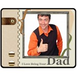 fathers day - Fleece Blanket (Medium)