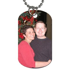 Mike And Kendra By Kendra Smith   Dog Tag (two Sides)   Ywqcriwaer83   Www Artscow Com Front