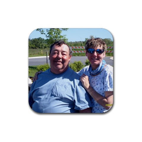 Coasters Are Great! By Pat Clark   Rubber Coaster (square)   Podg0g7fc3ac   Www Artscow Com Front