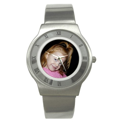 Stainless Steel Watch By Cate Sforza   Stainless Steel Watch   Yvbn3sv5zrxx   Www Artscow Com Front