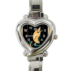 MousePad2 Heart Italian Charm Watch by wahinepurotu