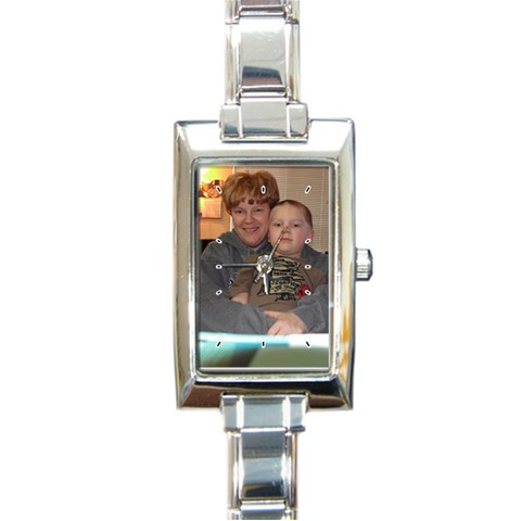 Mother s Day Gift For My Mom By Katt Harrington   Rectangle Italian Charm Watch   6pgb0kd9g6u2   Www Artscow Com Front