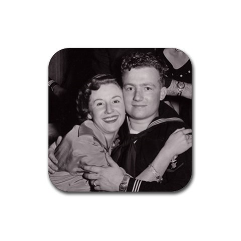 Dave s Mum & Dad By Maria   Rubber Coaster (square)   Sgfcqh71jxiz   Www Artscow Com Front