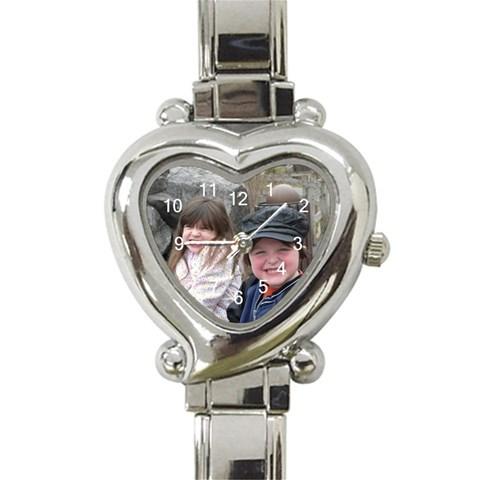 Heart Italian Charm Watch  By Cate Sforza   Heart Italian Charm Watch   Yistfc54pnae   Www Artscow Com Front