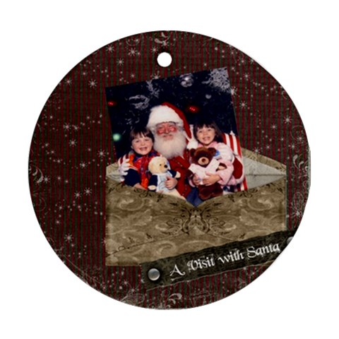 Round Porcelain Ornament By Cate Sforza   Ornament (round)   L0fl91p5wr5y   Www Artscow Com Front