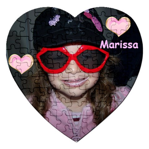 Puzzle   Marissa By Christine Marleau   Jigsaw Puzzle (heart)   1nowzc9djioo   Www Artscow Com Front