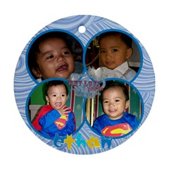 Ethan s Pendant By Jes   Round Ornament (two Sides)   Aqoqei0hrdzh   Www Artscow Com Back