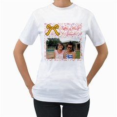 Chrissy By Florence   Women s T Shirt (white) (two Sided)   59jt218rbqlr   Www Artscow Com Front