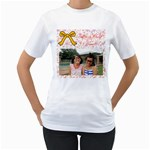 chrissy - Women s T-Shirt (White) (Two Sided)