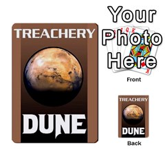 Dune Deck 2 By Luke Martinez   Multi Purpose Cards (rectangle)   F697gko00r38   Www Artscow Com Back 3