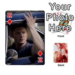 King Supernatural Playing Cards By Leigh   Playing Cards 54 Designs   Ucd8gz56z0dn   Www Artscow Com Front - DiamondK