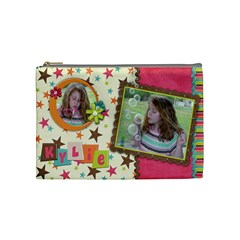 Kylie Cosmetic Bag By Kellie Simpson   Cosmetic Bag (medium)   Lp3lwaefoyrn   Www Artscow Com Front