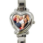 Family portrait watch - Heart Italian Charm Watch