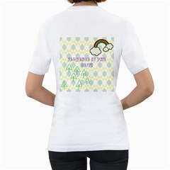 Chrissy By Florence   Women s T Shirt (white) (two Sided)   Ww246sq2k3oj   Www Artscow Com Back
