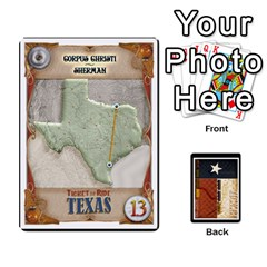 Ttr Texas Tickets By Peter Hendee   Playing Cards 54 Designs   7fe7fp5xlv34   Www Artscow Com Front - Diamond8
