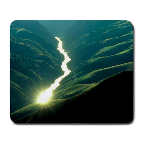 Salmon River By Sarah Fulghum   Large Mousepad   M9kch4adl4bn   Www Artscow Com Front