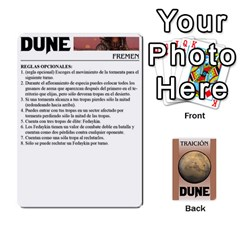 Dune 2 By Pedrito   Playing Cards 54 Designs   Bak0zen7eu3z   Www Artscow Com Front - Club9