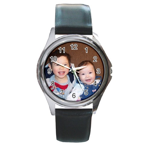 Shop For Perfect Gift For Your Man This Father s Day   Artscow     $5 99 Only By Sheila   Round Metal Watch   Thmzqlnsz2rc   Www Artscow Com Front