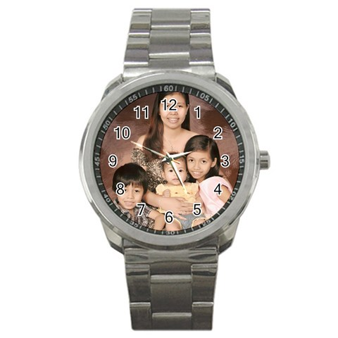 Father s Day Watch By Ruby Ricafrente   Sport Metal Watch   17jrs3525sfz   Www Artscow Com Front