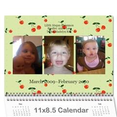 Cherry Calendar By Dania Mcalister   Wall Calendar 11  X 8 5  (12 Months)   T5pvz86qnkrx   Www Artscow Com Cover