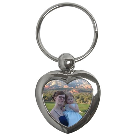 Heart keychain by vicki rockett Front