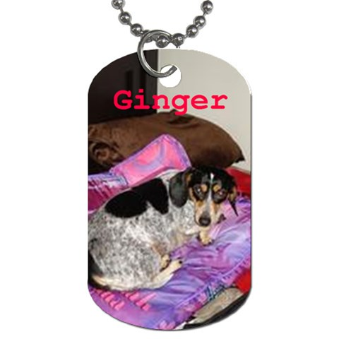 Ginger By Allison   Dog Tag (one Side)   Z7145t73v0mm   Www Artscow Com Front