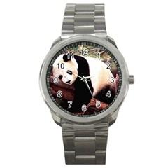 panda-bear-wallpaper Sport Metal Watch