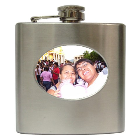 Dos! By Esperanza Dodge   Hip Flask (6 Oz)   Uv5v1h7o828t   Www Artscow Com Front