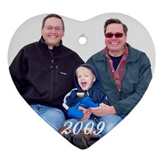 Tim/jeff Ornament By Gretchen Musa   Heart Ornament (two Sides)   Dv4gvkazs7wk   Www Artscow Com Back