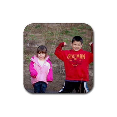 Crazy Kid Coasters By Chantel   Rubber Coaster (square)   Eo5pxnbvo49n   Www Artscow Com Front