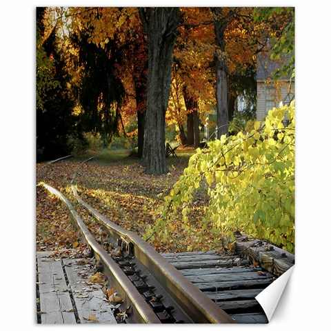 Fall Railroad 20x16 canvas by Marybeth Parker 20 x16 Canvas - 1
