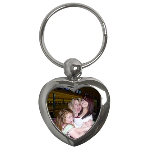 My Girls Heart Key Chain By Kellie Simpson   Key Chain (heart)   Yeft6wn0td43   Www Artscow Com Front