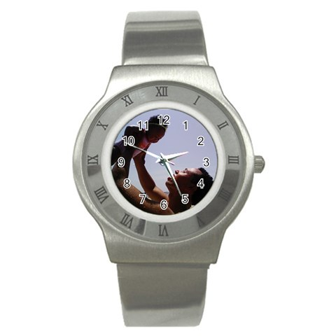Daddy & Me By Wendy Robinson   Stainless Steel Watch   2a008rlaisjo   Www Artscow Com Front