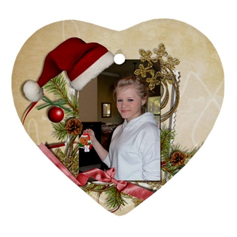 Jessica s Ornament By Kellie Simpson   Ornament (heart)   Kgc2iekkrtd3   Www Artscow Com Front