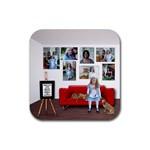 Square rubber coaster - Rubber Coaster (Square)