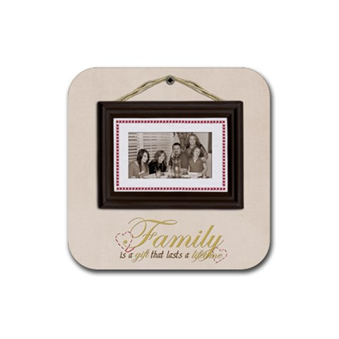 Square Rubber Coaster By Kellie Simpson   Rubber Coaster (square)   Ftn3u3rktro8   Www Artscow Com Front