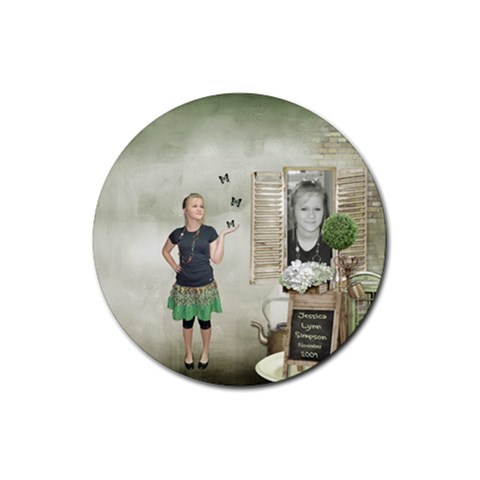 Round Rubber Coaster By Kellie Simpson   Rubber Coaster (round)   Kqtiqe82tvdo   Www Artscow Com Front