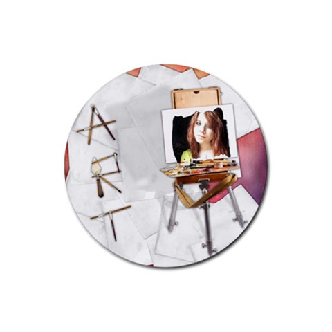 Round Rubber Coaster By Kellie Simpson   Rubber Coaster (round)   Gam39n5fetdu   Www Artscow Com Front