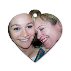 Mother & Daughter By Ga Patsy   Dog Tag Heart (two Sides)   Lak10og5pihw   Www Artscow Com Front