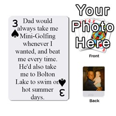 Memories Of Dad By Erica   Playing Cards 54 Designs   Ji0dbkozetpg   Www Artscow Com Front - Spade3