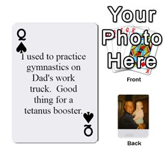 Queen Memories Of Dad By Erica   Playing Cards 54 Designs (rectangle)   Ji0dbkozetpg   Www Artscow Com Front - SpadeQ
