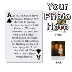 Ace Memories Of Dad By Erica   Playing Cards 54 Designs (rectangle)   Ji0dbkozetpg   Www Artscow Com Front - SpadeA