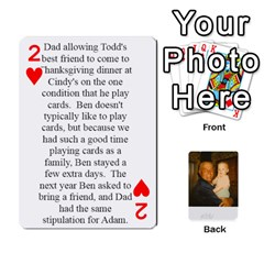 Memories Of Dad By Erica   Playing Cards 54 Designs (rectangle)   Ji0dbkozetpg   Www Artscow Com Front - Heart2