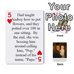 Memories Of Dad By Erica   Playing Cards 54 Designs (rectangle)   Ji0dbkozetpg   Www Artscow Com Front - Heart5